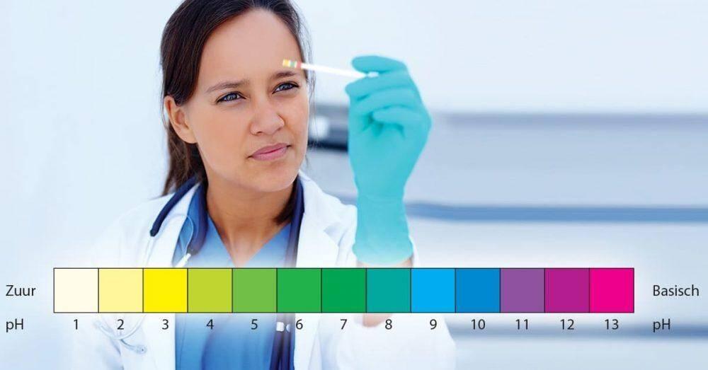 natriumbicarbonaat testen zuurgraad met PH strips
